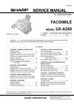 Sharp UX-A260U Service manual