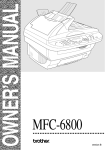 Brother MFC-6800 Owner`s manual