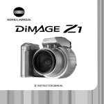 Minolta DiMAGE Z1 Instruction manual