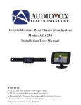Audiovox PAS250 User manual