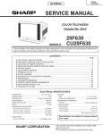 Sharp 20F630 Service manual