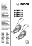 Bosch ROTAK 34 Instruction manual
