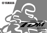Yamaha TDM850 Owner`s manual