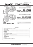 Sharp CD-XP300 - Compact Stereo System Service manual