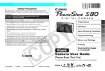 Canon PowerShot S80 User Guide Advanced User guide