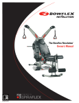 Bowflex Revolution Owner`s manual