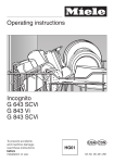 Miele G843VI Operating instructions