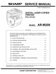 Sharp AR-M208 Service manual