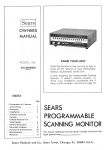Sears 934.36390600 Specifications