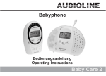 AUDIOLINE Baby Care 7 Operating instructions