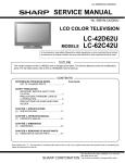 Sharp LC-62C42U Service manual