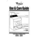 Whirlpool LE9300XT Operating instructions