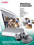 Canon WebView LivescopeMV Specifications