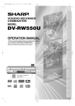 Sharp DV-RW550U Operating instructions