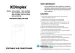 Dimplex GDC14RWA Instruction manual