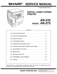 Sharp AR-FX4 Service manual