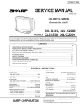 Sharp 32L-X2000 Service manual