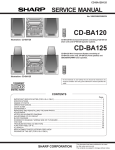 Sharp CD-BA120 Service manual