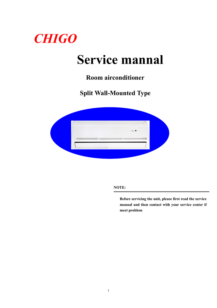 chigo kfr 70gw service manual rh manualzilla com Ductless Wall Air Conditioners Friedrich Split Air Conditioners