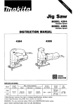 Makita 4304T Instruction manual
