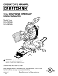 Craftsman 315.212340 Operator`s manual