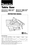 Makita 2702 Instruction manual