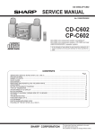Sharp CP-C602 Service manual