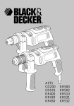 Black & Decker AST1 Instruction manual