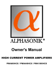 Alphasonik R PMA600HCE Owner`s manual