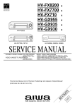 Aiwa HV-GX900 K Service manual