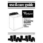 Whirlpool LA65OOXS Operating instructions