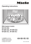 Miele M 637 EC Operating instructions