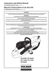Dolmar PC-6530 Instruction and safety Owner`s manual