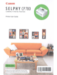 Canon SELPHY CP780 User guide
