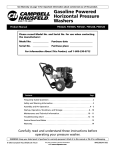 Campbell Hausfeld PW3005 Product manual