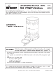 Mr. Heater MH80CV Operating instructions