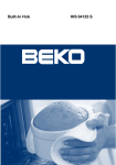 Beko HIS 64123 S User manual