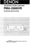 Denon PMA-2000IVR Operating instructions