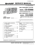 Sharp CD-ES900 Service manual