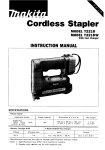 Makita T221D Instruction manual