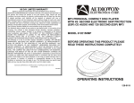 Audiovox CE150MP Operating instructions