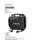 Craftsman 75118 Operator`s manual