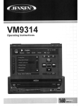 Audiovox VM9314 Operating instructions