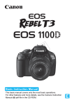 Canon CANON EOS 1100D Instruction manual