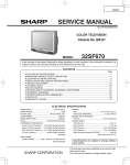 Sharp 32SF670 Service manual