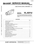 Sharp VL-AX1U Service manual