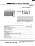 Sharp R-530EW Service manual
