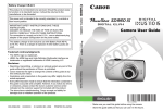 Canon Powershot SD960 IS User guide