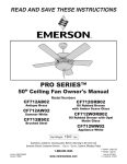 Emerson CF712ORB02 Owner`s manual