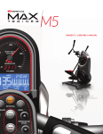 Bowflex Max Trainer M5 Specifications